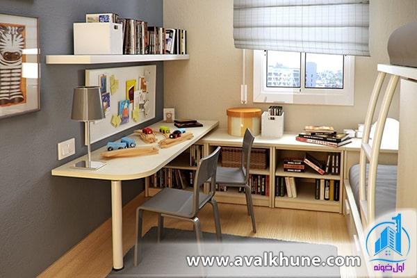 دکوراسیون اتاق مطالعه کوچک