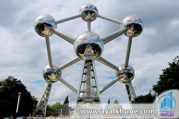 ساختمانی به شکل اتم