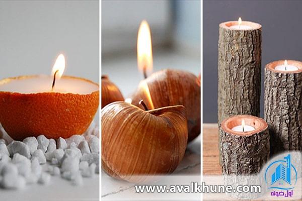 انواع شمع در لوازم تزئینی برای دکوراسیون