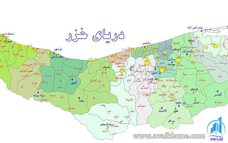 نقشه شهر سوادکوه