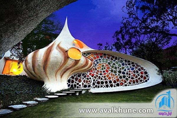 خانهای به شکل صدف گوش ماهی دریایی؛ مکزیکوسیتی، مکزیک