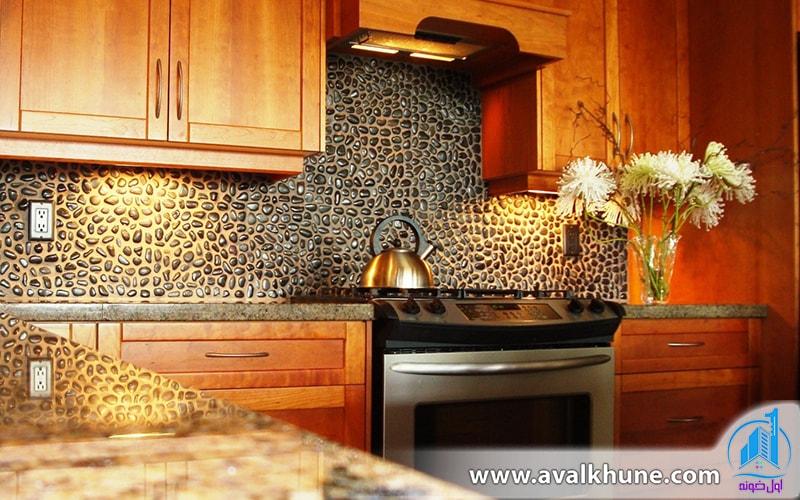 استفاده از بک اسپلش در آشپزخانه ویلای شمال