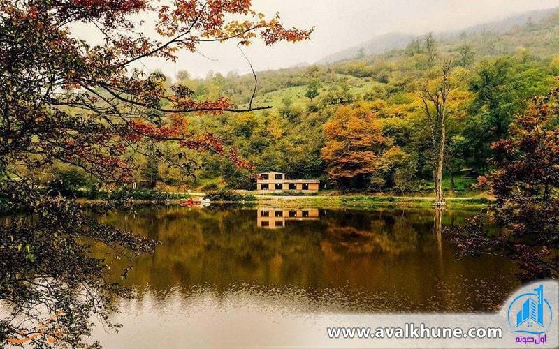 دریاچه شورمست در شهر سوادکوه