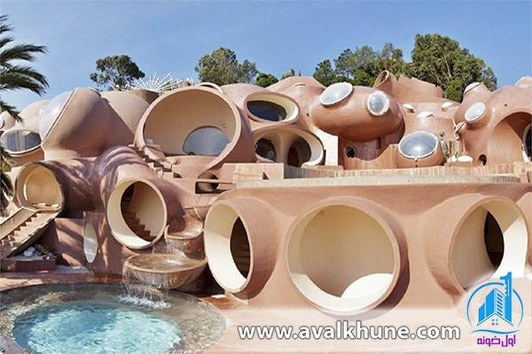 معماری به شکل حفره - حباب