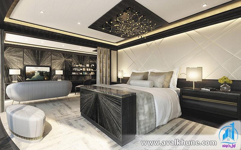 اتاق خواب مستر کاخ ویلا