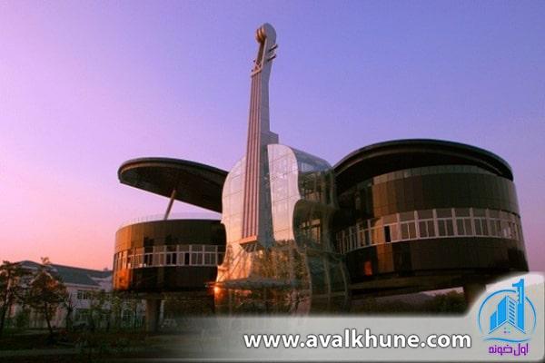 خانهای به شکل پیانو؛ استان آنهویی، چین